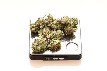 Cannabis auf der Waage